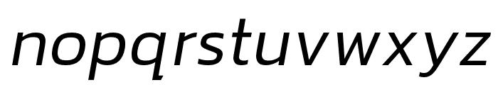 hailey-LightItalic Font LOWERCASE