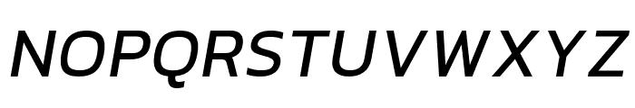 hailey-MediumItalic Font UPPERCASE