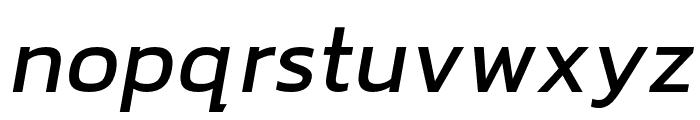 hailey-MediumItalic Font LOWERCASE