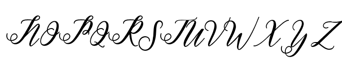 halley Font UPPERCASE