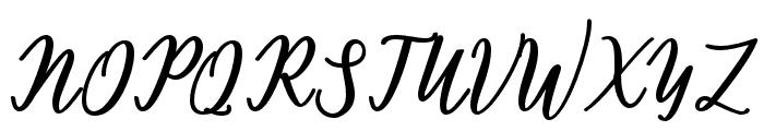 hamster Font UPPERCASE