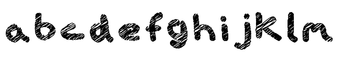 iScribble Bold Font LOWERCASE