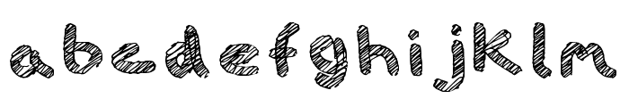 iScribble Outlined Light Font LOWERCASE
