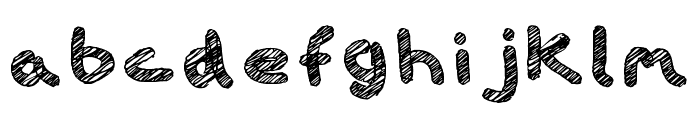 iScribble Outlined Regular Font LOWERCASE