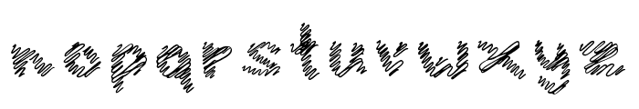 iScribble Regular Font LOWERCASE