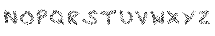 iScribble Very Light Font UPPERCASE
