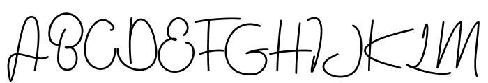 jealousy Font UPPERCASE