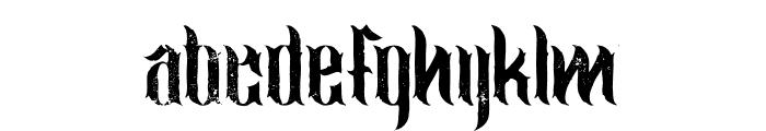 jimny Grunge Font LOWERCASE