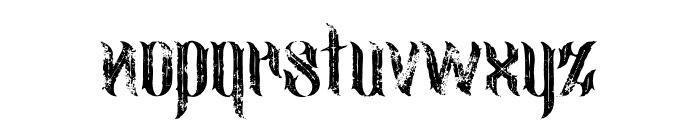 jimny Inline Grunge Font LOWERCASE
