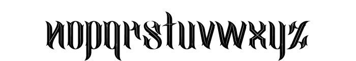 jimny Inline Font LOWERCASE