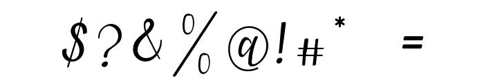 lanara Script Font OTHER CHARS
