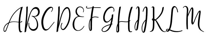lanara Script Font UPPERCASE