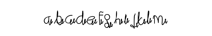 maliali Font LOWERCASE