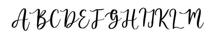 melanies Regular Font UPPERCASE