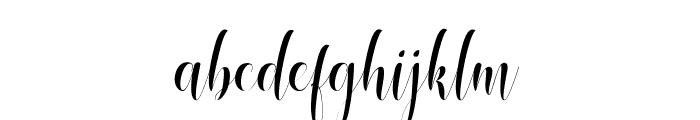 mobile phone Script Font LOWERCASE