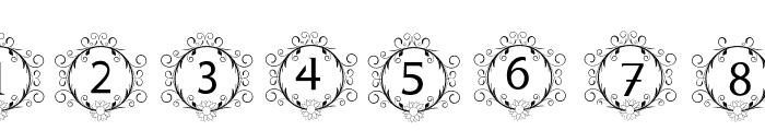monogram sunflower Font OTHER CHARS