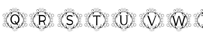 monogram sunflower Font UPPERCASE