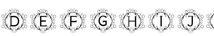 monogram sunflower Font LOWERCASE