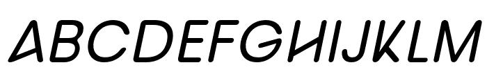 nova-Italic Font UPPERCASE
