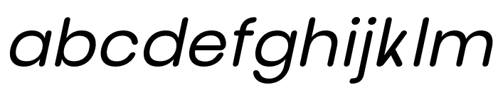 nova-Italic Font LOWERCASE
