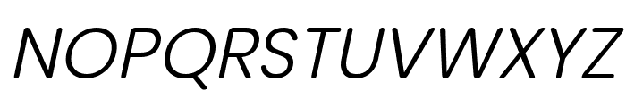 nova Light Italic Font UPPERCASE