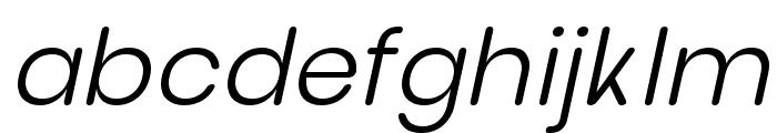 nova Light Italic Font LOWERCASE