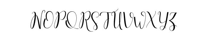 salitascript Font UPPERCASE