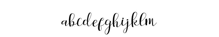 salitascript Font LOWERCASE