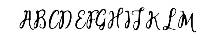 salitasketch Font UPPERCASE