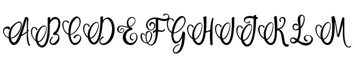 smiles women Font UPPERCASE