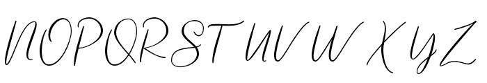 tallentedscript Font UPPERCASE