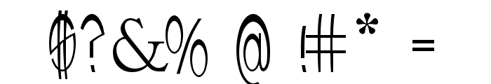 upTOP Font OTHER CHARS