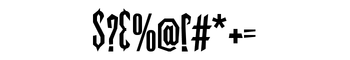 vultures-Regular Font OTHER CHARS