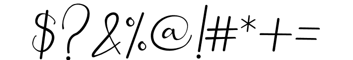 winstyle Signature Font OTHER CHARS