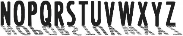 CF Font Shading ttf (400) Font UPPERCASE