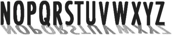 CF Font Shading ttf (400) Font LOWERCASE