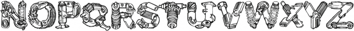 CF MotorPieces otf (400) Font UPPERCASE