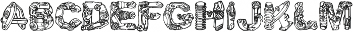 CF MotorPieces otf (400) Font LOWERCASE