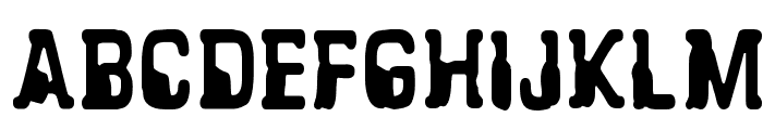 CF Alien Abduction Regular Font UPPERCASE