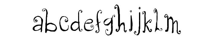 CF Anabelle Regular Font LOWERCASE