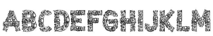 CF Azteques Regular Font UPPERCASE