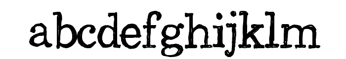 CF Back to School Regular Font LOWERCASE