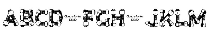 CF Bolt and Nuts Regular Font UPPERCASE