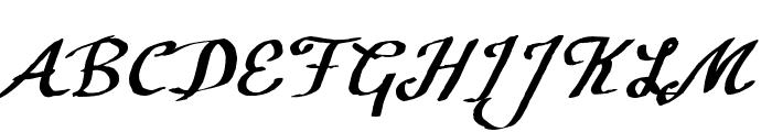 CF Calligraphia Regular Font UPPERCASE