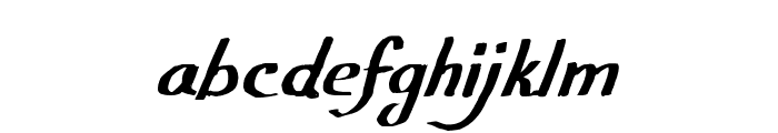 CF Calligraphia Regular Font LOWERCASE