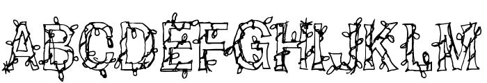 CF Christmas Shit Regular Font UPPERCASE