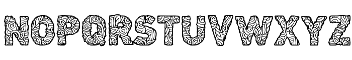 CF Civilisation Maya Regular Font UPPERCASE