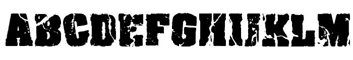 CF Crack and Bold Regular Font UPPERCASE