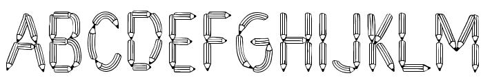 CF Crayons de plomb PERSONALUSE Regular Font UPPERCASE