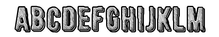 CF Engraved Regular Font UPPERCASE